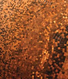 Mosaic wood from river-recovered white oak - Westchester Home - Restoration Timber