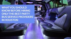 What You Should Know Before Hiring Only The Best Party Bus Service Providers In Houston - Trend Gracious Quotes 2019 Wedding Limo, Experience Quotes, Party Bus, Transportation Services, Gps Tracking, Ways To Travel, Host A Party, Best Part Of Me, Luxury Travel