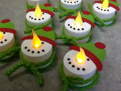 Christi's Creative Crew: Snowman Tea Lights