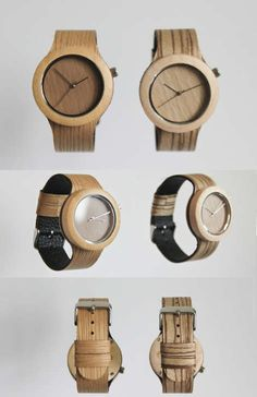 Lorenzo Buffa + Analog Watch Co. is raising funds for The Carpenter Collection All-Natural Wood Watch & Soft Strap on Kickstarter! This is the first soft strapped watch made with all-natural wood! A clean and minimal design to show off the wood's beauty! Wood Design, Diy Design, Wooden Gears, Industrial Office Design, Wooden Watch, Black Wood, Minimal Design, Custom Wood, Watches For Men
