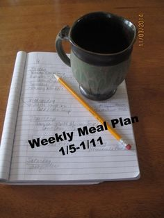 Weekly Meal Plan 1/5-1/11/2015 | my sister's pantry