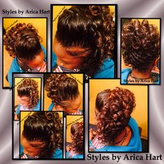 Images of Hair styles _ updos, sewins, wraps, stuffed twist & etc. in an Aiken hair salon. - STYLES BY ARICA HART