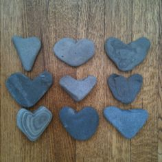 Some of my favorites from my heart rock collection...