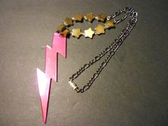 Star and Lightning Charm Necklace