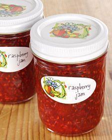 Raspberry Jam -this recipe makes 5 jars.. Martha Stewart