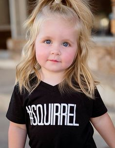 We all know how easily distracted kids can be. This shirt perfectly encompasses that distractibility. Add a pair of leggings, shorts, or skinny jeans and your little one will look adorable sipping tha
