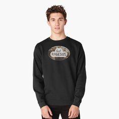 "Girl T-shirt motorcycle rider logo also for mugs,socks,clock and more"" Lightweight Sweatshirt by kingsunday Pullover, Crew Neck Sweatshirt, Graphic Sweatshirt, Wyoming, E Biker, Mode Vintage, Retro Vintage, Hoodies, Sweatshirts"