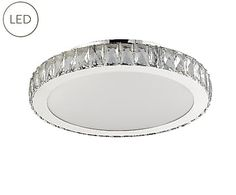 Brand Sorpetaler - LED-Plafondlamp Syrakus, chroom/kristal, Ø 45 cm