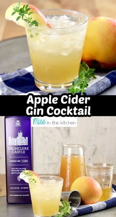 Gather around the fire pit with friends this fall and enjoy these Apple Cider Gin Cocktails. They are simple to make by the glass or stir up a pitcher. A great way to let your guests refill their glasses so you aren't playing bartender all weekend. Cocktails For Parties, Cocktail Desserts, Fall Cocktails, Classic Cocktails, What Is Gin, Yummy Drinks, Healthy Drinks, Spiked Apple Cider, Easy Mixed Drinks