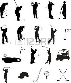 Golfer Silhouette Vector Awesome Golfer Vector
