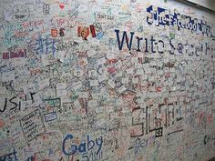 Facebook Wall in real life (Facebook office)