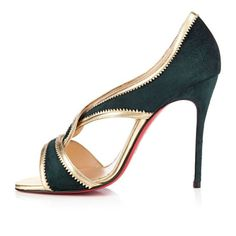 Christian Louboutin Suzanana 100mm Peep Toe Pumps Green