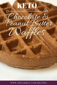 Chocolate Peanut Butter Waffles - Trina Krug