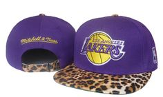 NBA Los Angeles Lakers Snapback Hats Purple Yellow Mitchell And Ness Leopard 2608|only US$8.90
