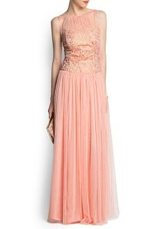Lace long dress by mango