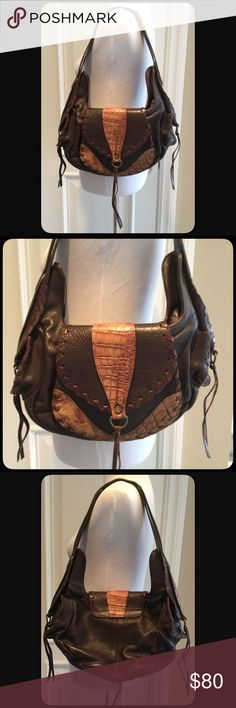 """🆕Pietro Alessandro Hobo Brown Leather Purse NWOT Beautiful brown leather and tan crocodile trim leather purse by Pietro Alessandro. Front large pock, snap closure and zipper closure. Two side pockets on the straps with snap, tassels. Lined. Zipper pocket and two side pockets. Plenty of room for all your needs. Never used. NWOT. Measures approximately 14""""w x 9:5"""" long. Shoulder drop 11"""". Made in New York. Beautiful in person. Pietro Alessandro Bags Hobos"""
