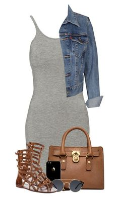 """""""Untitled #1064"""" by missglamfashionz ❤ liked on Polyvore featuring T By Alexander Wang, Michael Kors, Levi's, A.J. Morgan and Tory Burch"""