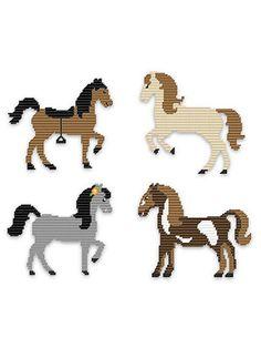 Plastic Canvas - Happy Horses