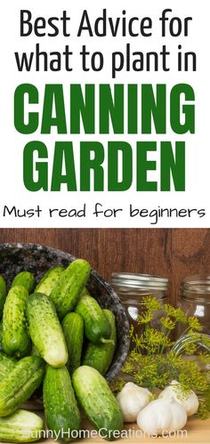 If you want to know how to make a canning garden, here are some of the best plants - both vegetables (veggies) and berries you should be planting in your backyard garden. There is nothing like an abundance of summer produce to preserve for the cold winter Organic Vegetables, Growing Vegetables, Gardening Vegetables, Canning Vegetables, Organic Fruit, Vegetable Garden Planner, Backyard Garden Design, Backyard Ideas, Backyard Farming