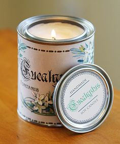 diy soy candle with the printable labels so cute for a fun gift