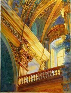 See related links to what you are looking for. Watercolor Architecture, Art And Architecture, Beautiful Architecture, Gouache Painting, Watercolor Paintings, Watercolor Fruit, Watercolor City, Color Pencil Art, Color Art