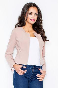 Короткий женский пиджак на молнии M324| Женская одежда FIGL