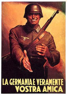 """ Germany is truly your friend! ""- I am not sure why, but I feel the imagery in this propaganda poster is one of the most horrifying I've seen...."