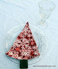 Dinner Napkins Christmas Tree Napkins Holiday by twistedsticks, $38.00