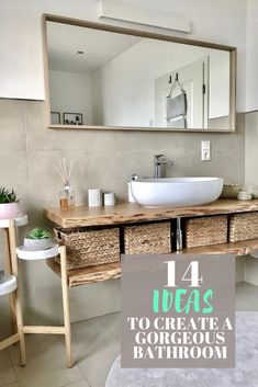 The best bathroom décor ideas including how to create a spa like bathroom picking beautiful tile and creating the wow factor around one featured item. Get some inspiration for colors styles like modern farmhouse elegant boho and more! Spa Like Bathroom, Bathroom Renos, Amazing Bathrooms, Small Bathroom, Floating Bathroom Vanities, Parisian Bathroom, Diy Bathroom Vanity, Bathroom Modern, Bathroom Ideas