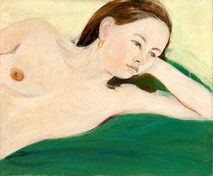 JANE FREILICHER Nude on a Green Blanket, 1967
