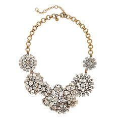 rhineston, big flower, statement necklaces, flower lattic, flower diamond, flowers, jewelri, lattic necklac