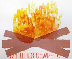 Campfire handprint art for camping unit by Tippytoe Crafts Kids Crafts, Preschool Projects, Daycare Crafts, Classroom Crafts, Summer Crafts, Toddler Crafts, Preschool Crafts, Activities For Kids, Bonfire Crafts For Kids