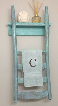 Chair Towel Rack & Shelf