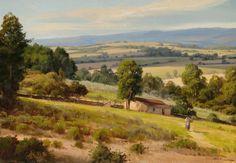 """Alexandre Reider - """"Paisagem de Portugal"""",   óleo s/tela, 50x70cm, 2012."""