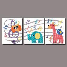 1425-7 Music Note Owl Musical Nursery Artwork Print Baby Room Decoration Kids Room Decor Nursery music note Gifts Under 20 art wall numbers