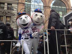 Mr. Met & Mrs. Met at the 2013 Veteran's Day Parade
