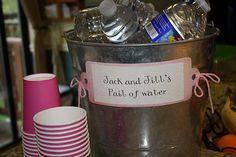 Jack & Jill's Pail of Water - Baby shower
