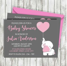 Elephant Baby Shower Invitation Girl, Baby Shower Girl Invitation, Little Peanut Baby Shower, Elephant Baby Girl Party, Baby Shower Girl Baby Shower Decorations, Baby Shower Invites For Girl, Baby Shower Centerpieces, Baby Shower Favors, Baby Shower Themes, Baby Boy Shower, Shower Ideas, Baby Shower Brunch, Baby Shower Parties