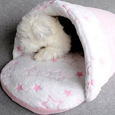 XILALU Cute Collapsible Indoor Plush Slipper Shape Dog or cat Bed Pet Nest *** Check out the image by visiting the link.