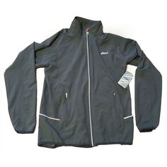 #ebay ASICS Men Runner jacket Size M Gray Full Zip withing our EBAY store at  http://stores.ebay.com/esquirestore