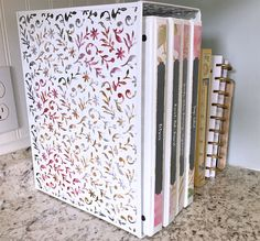 I finally organized my recipes into smaller binders, and it's so much easier to find them now! Free printable & editable binder covers for YOUR recipe binders! Perennial Joy.com