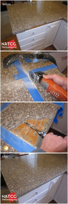 How to replace a broken, cracked or chipped granite countertop tile.