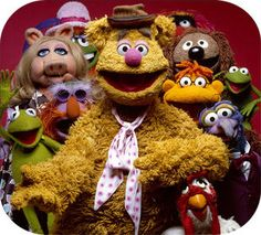 Fozzie Bear with his friends.