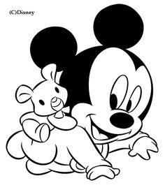 Bebes Disney Para Colorir Mickey Mouse Coloring Pages For Kids Baby