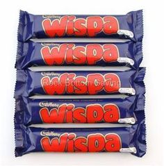 CADBURYS WISPA CHOCOLATE BAR -- A delicious whipped chocolate bar which I fell in love way back when they used to sell them in the states in the 80s. Mmmm...