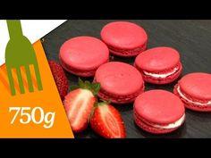 Recette de Macarons à la fraise - 750 Grammes - YouTube