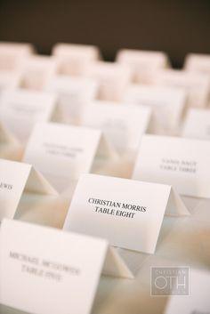Escort Cards | Brilliant Event Planning | Christian Oth Studios