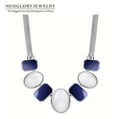 Find More Choker Necklaces Information about Neoglory Platinum Plated Fashion Chokers Necklaces for Women Opal Jewelry Accessories Charm Party Gift 2014 New Brand Arrival,High Quality Choker Necklaces from NEOGLORY JEWELRY on Aliexpress.com