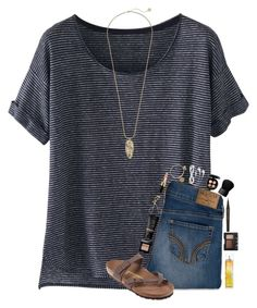 ~piano lesson today~ by simply-natalee on Polyvore featuring Wrap, Hollister Co., Birkenstock, Kendra Scott, Alex and Ani, NARS Cosmetics, MAC Cosmetics, Marc Jacobs, Bobbi Brown Cosmetics and H&M
