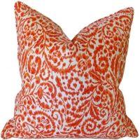 Hibiscus - Botanical Coral Pillow